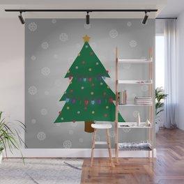 Christmas Tree - Silver Wall Mural