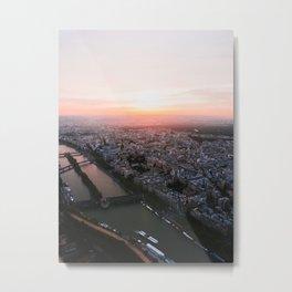 Paris sunset. Metal Print