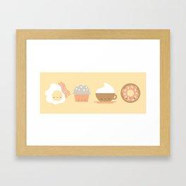 Breakfast at Juice's Framed Art Print