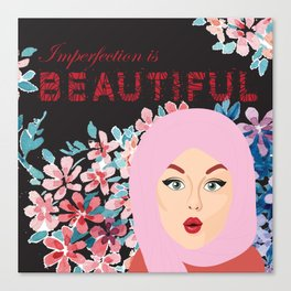 Imperfection is BEAUTIFUL (BLACK) Canvas Print