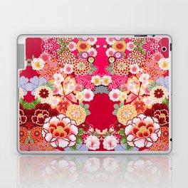 Red Floral Burst Laptop & iPad Skin