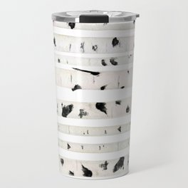birch watercolor pattern 2018 Travel Mug