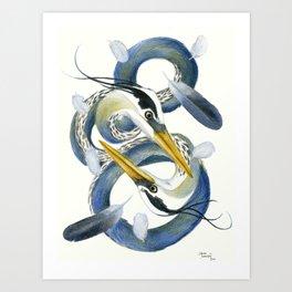 A Couple Of Herons Art Print