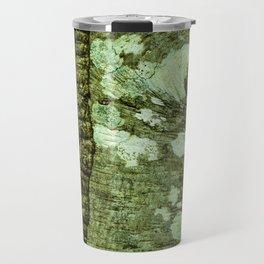 Alder tree bark with lichen and moss natural pattern Travel Mug