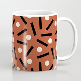 Postmodern Sticks + Stones in Terracotta Coffee Mug