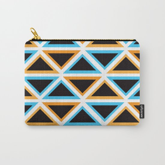 Colorful Triangle (Ranging Tribuj) Carry-All Pouch