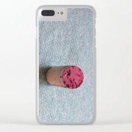 Wine cork Clear iPhone Case