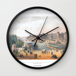 Paris art print Paris Decor office decoration vintage decor LAC BOIS BOULOGNE of Paris Wall Clock