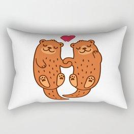 otterly adorable Rectangular Pillow