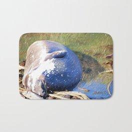 Napping Elephant Seal, San Simeon CA Bath Mat