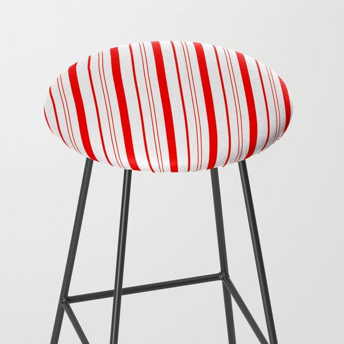 Candy Cane Stripes Bar Stool