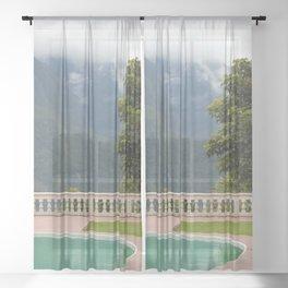 Coroico villa 2 Sheer Curtain