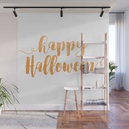 Happy Halloween   Orange Glitter Wall Mural