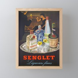 Advertisement liqueurs fines senglet  Framed Mini Art Print