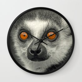 LEMUR PORTRAIT Wall Clock