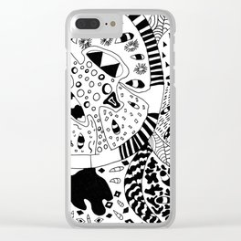 Cross Section of Tomato Clear iPhone Case