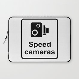 Speed Cameras Sign Laptop Sleeve