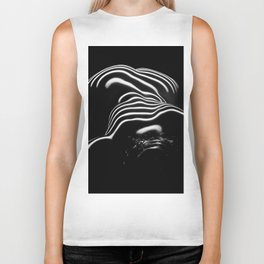 0686-AR BW Contemporary Art Nude Large Woman BBW Graceful and Strong Biker Tank