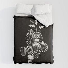 ELECTRIC! (Air-Guitaring Robot) Comforters