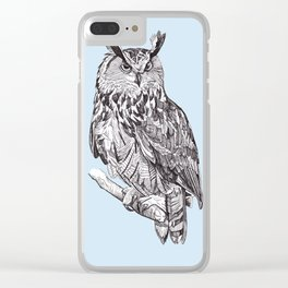 Eagle Owl Clear iPhone Case
