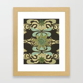 Nine-Pointed Star with Lotus Framed Art Print