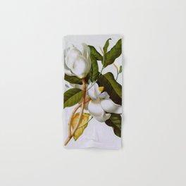 Vintage Botanical White Magnolia Flower Art Hand & Bath Towel