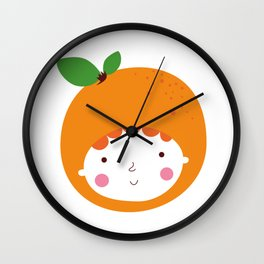 Lovely Orange Wall Clock