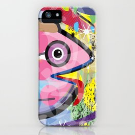 Fish Panting for a Drink with Hemingway in Havana iPhone Case