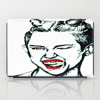 miley cyrus iPad Cases featuring Miley Cyrus  by Clairenisbet