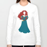 merida Long Sleeve T-shirts featuring Merida by Dewdroplet