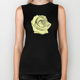 Rose Sketch Yellow Tints Biker Tank