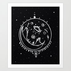 DESERT MOON SHELTER Art Print