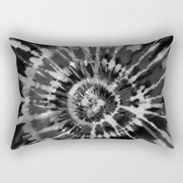 Black Tie Dye Rectangular Pillow