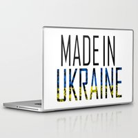 ukraine Laptop & iPad Skins featuring Made In Ukraine by VirgoSpice