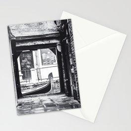 Venice Gondola - Black and White Stationery Cards