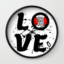 Love Tennis with a tennisball logo | BTNNS Wall Clock