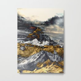 Gold Mountain Metal Print