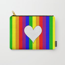Gay flag with the colors of the rainbow with a heart Carry-All Pouch