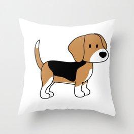 CUTE BEAGLE Throw Pillow