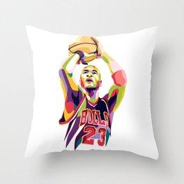Jordan pop art Throw Pillow