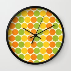 Zesty Polka Wall Clock