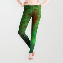 Isolation - Abstract, textured painting Leggings
