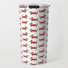 Christmas dachshund pattern Travel Mug