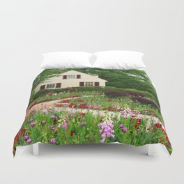 Cottage Garden - Colonial Williamsburg Duvet Cover