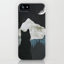 Black Cat 2 iPhone Case