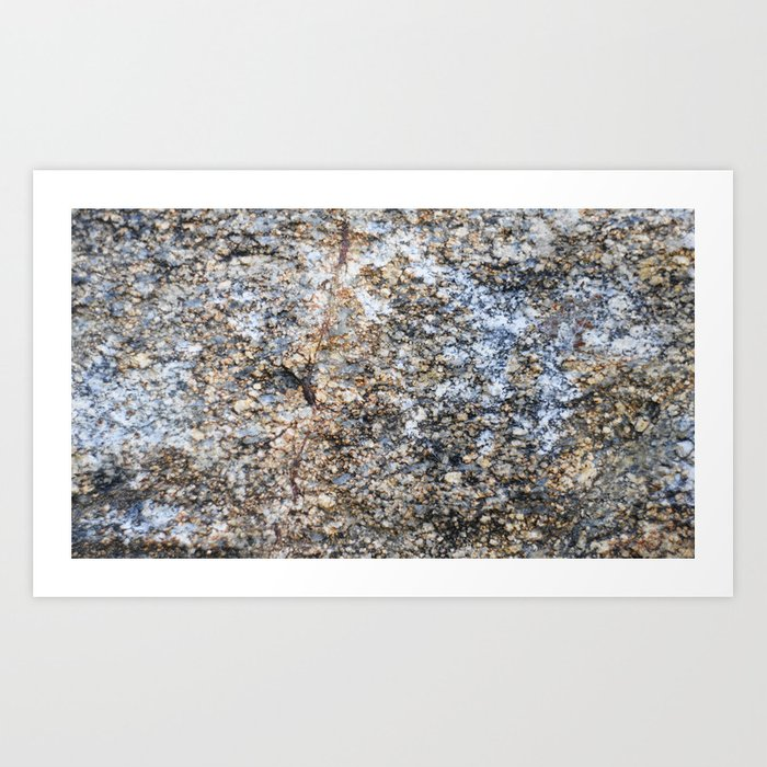 e58d7fd18 The surface of the granite stone. Art Print by albert12001