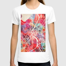 Lewiston map Maine ME 2 T-shirt
