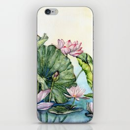 Japanese Water Lilies and Lotus Flowers iPhone Skin