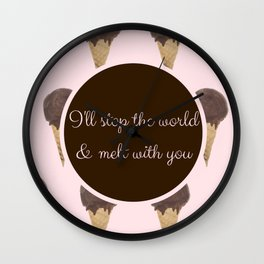 Melt With You (Strawberry) Wall Clock