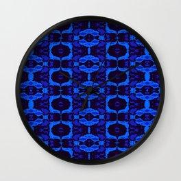 Blue shapes Wall Clock